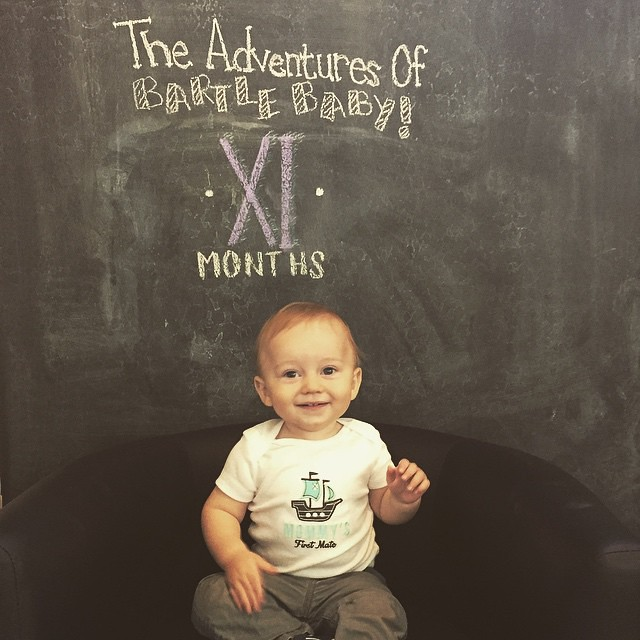 This month in #BartleBaby news - we are ending our first year already, I can't believe it! Archer has really started to love eating solids, especially the flavors with lots of spices and variety! This month he learned to give kisses and still waves to any