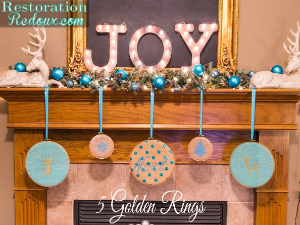 diy-5-golden-rings-christmas-decorations-crafts-fireplaces-mantels