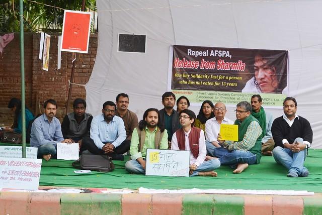 Birth anniversary of Irom Sharmila observed with token hunger strike at Jantar Mantar