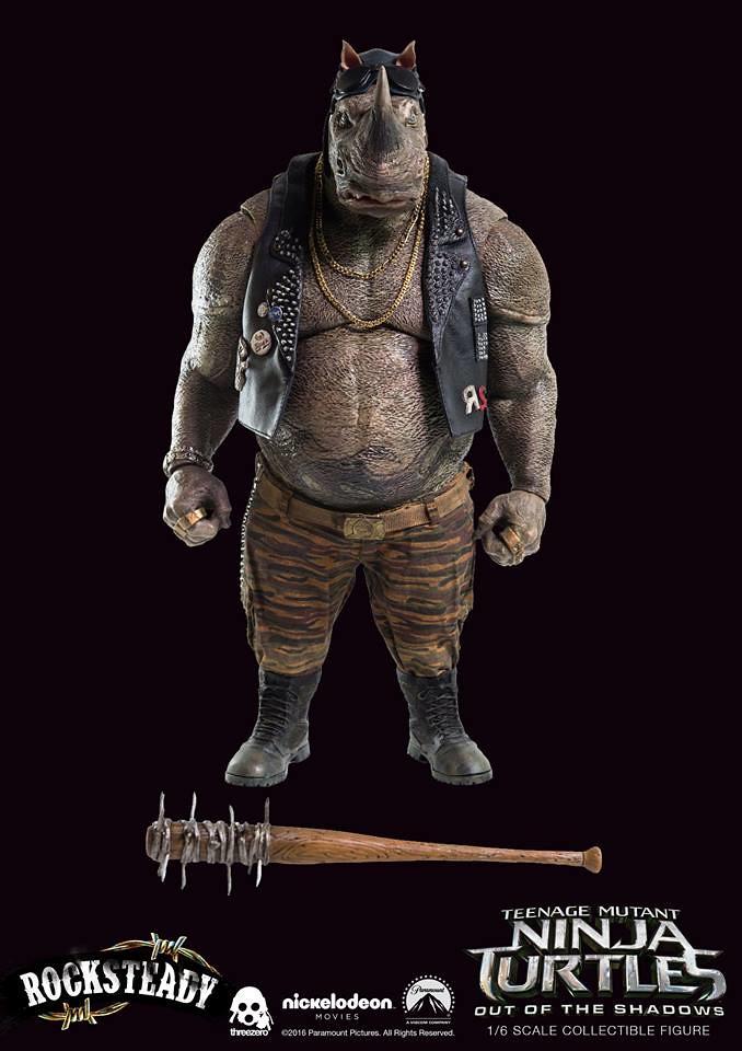 threezero 忍者龜:破影而出【洛克史迪】Teenage Mutant Ninja Turtles Rocksteady 1/6 比例人偶作品