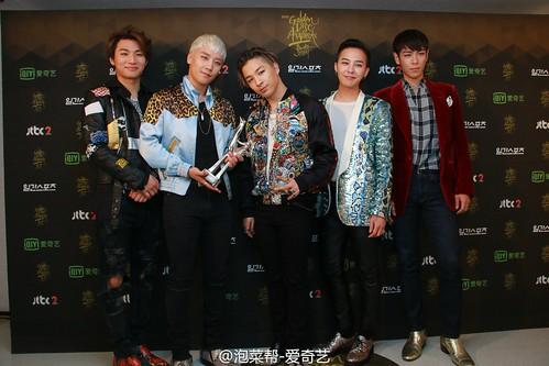 Big Bang - Golden Disk Awards - Backstage - 20jan2016 - 泡菜帮-爱奇艺 - 11