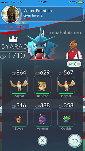 pokemon Go gym