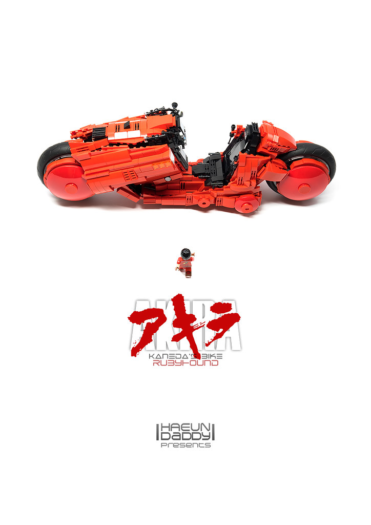 Akira / Kaneda Bike – RubyHound (custom built Lego model)