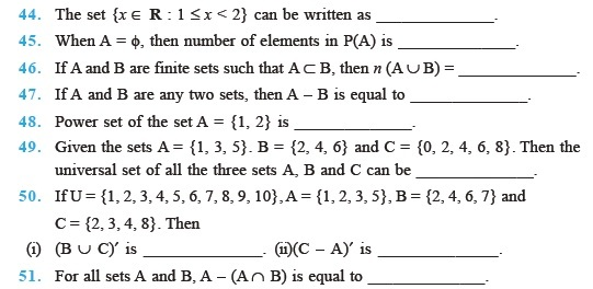 Class 11 Important Questions For Maths Sets Aglasem Schools
