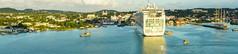 Sailaway from Antigua leaving MV Ventura