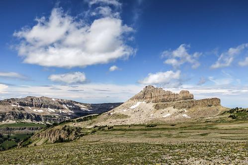 summer nature clouds canon landscape outdoors hiking bluesky powershot alpine rockymountains wyoming grandtetons peaks tundra tetonrange s100 alaskabasin westernunitedstates jedediahsmithwilderness northernrockies