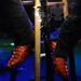 Lajon Witherspoon's Red Alligator Boots