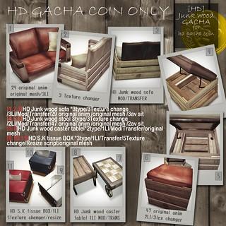 hd Junk wood gacha(Hd coin only)