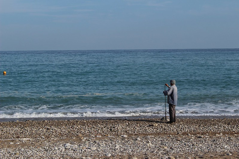 fisherman, Olympos beach, Turkey