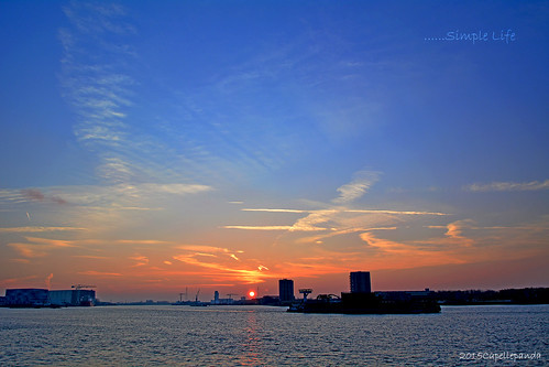 sun sunrise rotterdam simplelife 日出 d7100 afs18105mm rotterdamhabor 鹿特丹港口