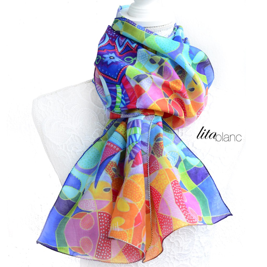 Nouvelle Collection Foulards + Lita Blanc