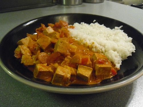 Tofu Korma with rice
