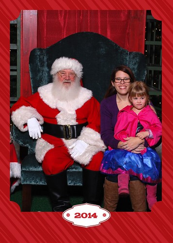 Lucy chickened out about meeting Santa at the last minute, so I had to jump in with her.