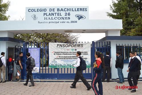 Colegio de Bachilleres realizó un paro de labores en planteles potosinos