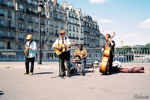 Street musicians. Paris. France