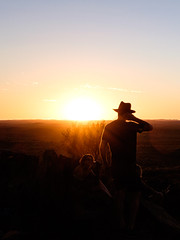 Broken Hill - sunset silhouette, vertical