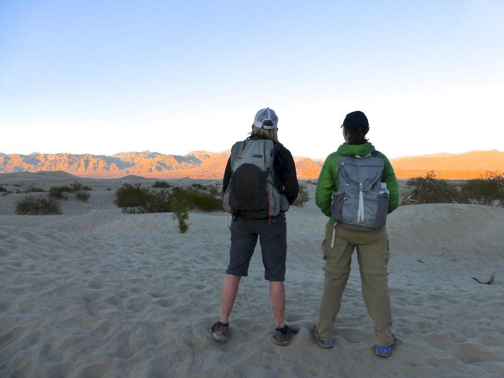 Sporting our Gossamer Gear packs at Mesquite Dunes