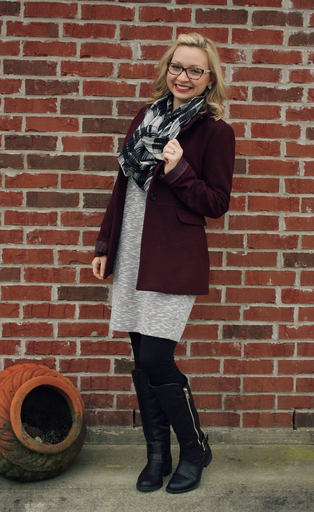 sweatshirt dress - cold winter