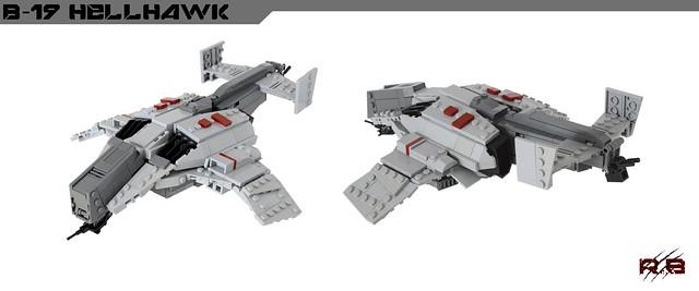 """B-19 """"Hellhawk"""" Gunship"""