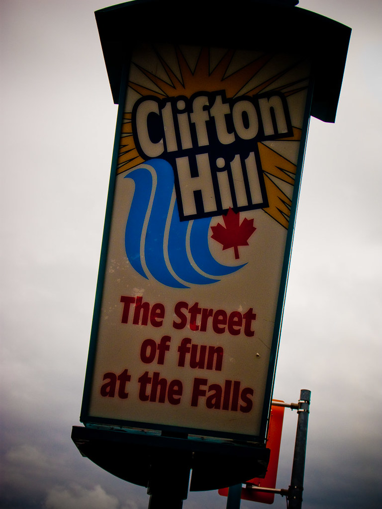 Clifton Hill sign at Niagara Falls
