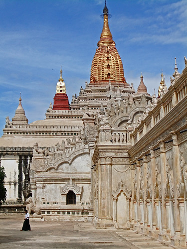Exterior of Ananda Temple in Bagan, Myanmar