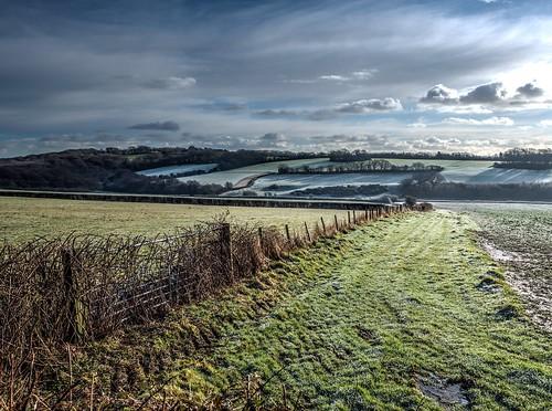 shadow sunrise countryside frost battle olympus hills valley em1 olympusm1240mmf28