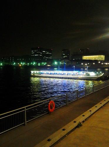 秋のお台場の夜景いろいろ_青海水上バス乗場の夜景