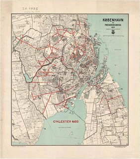 Cycle Track Network 1935 in Copenhagen and Frederiksberg