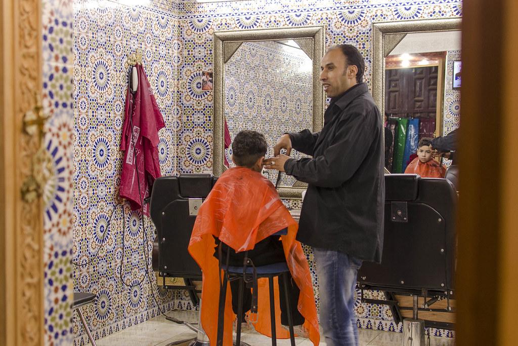 Peluquería en Marruecos