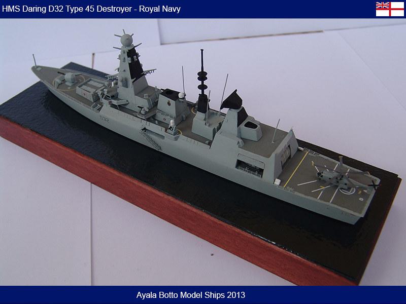 HMS Daring D32 Type 45 Destroyer Royal Navy - Cyber Hobby 1/700 16649285416_8c38115856_c