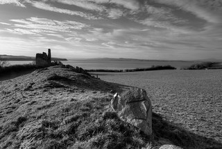 OLD MAN OF INCH CASTLE (RUIN), INCH ISLAND, CO DONEGAL, IRELAND.