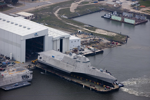 Future USS Gabrielle Giffords (LCS 10) Launches