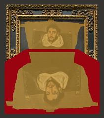 Mail Art Letter Envelope Kimono HORTENSIO FELIX DE PARAVICINO Y ARTEAGA by  El Greco mailart Brief Kuvert spiegel mirror verlauf