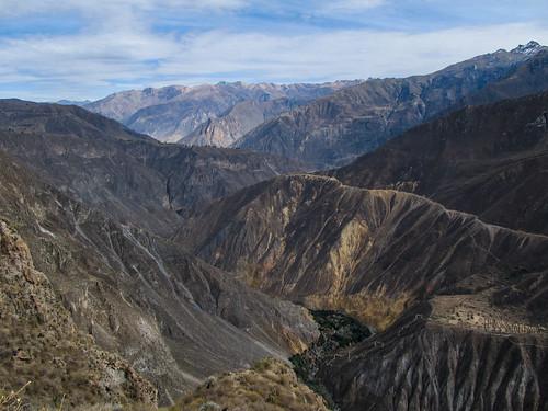 Trek du Cañon de Colca: l'oasis de Sangalle, où nous dormirons le 2e jour