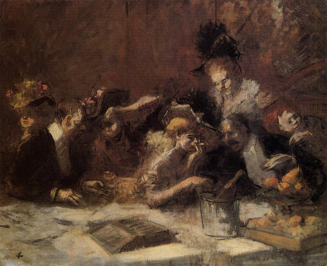 Cafe Maxim, Paris by Jean-Louis Forain