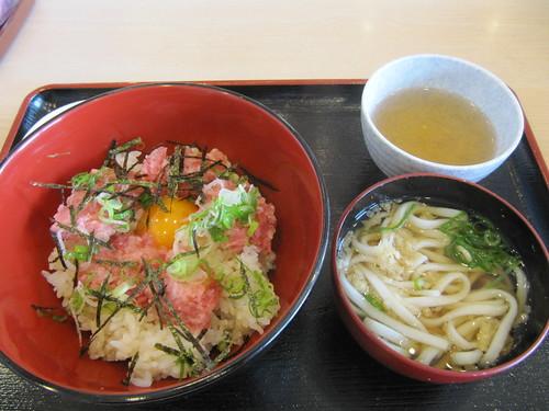 京都競馬場のネギトロ丼