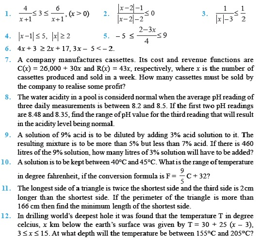 Important Questions For Class 11 Maths Ch 6 Linear Inequalities