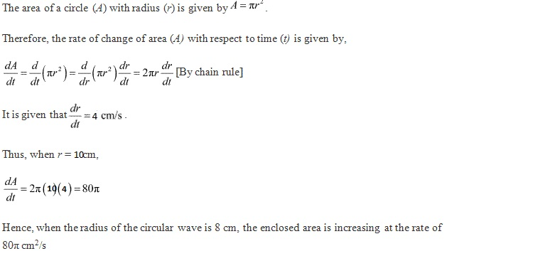 RD Sharma Class 12 Solutions Chapter 13 Derivatives as a Rate Measurer Ex 13.2 Q9