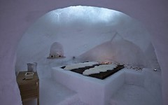 white, snow, ice hotel, ice, freezing, igloo,