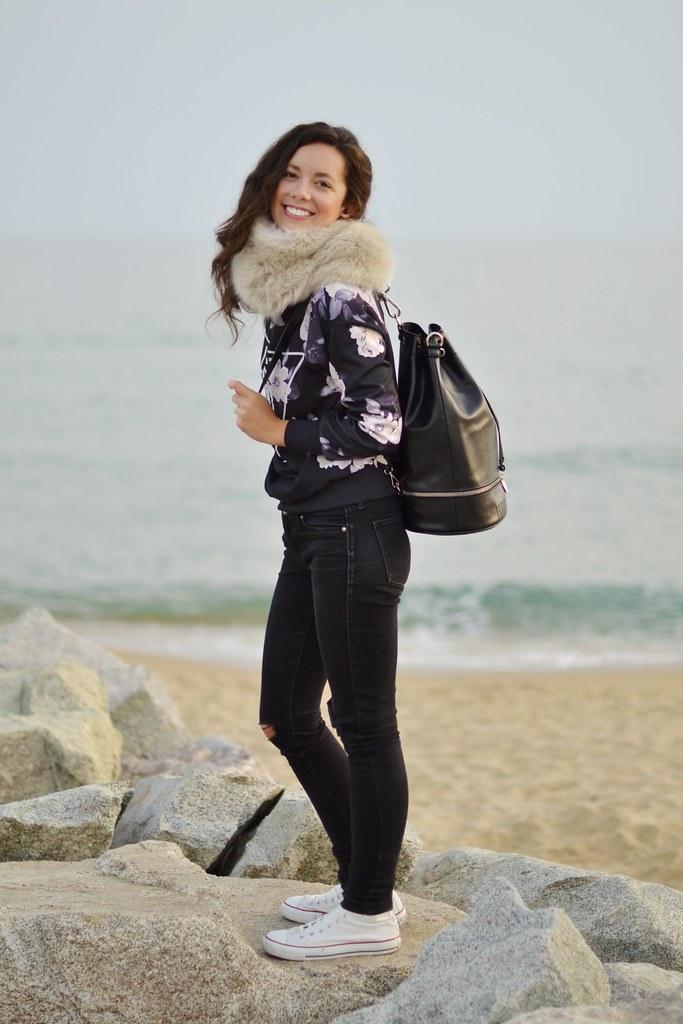 Un día de otoño en la playa
