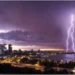 One of my favourite images of the 29th January storm. I got to Kings park just before sunrise and grabbed a few shots, but this has the best bolt and colours I think. www.cloudtogroundimages.com