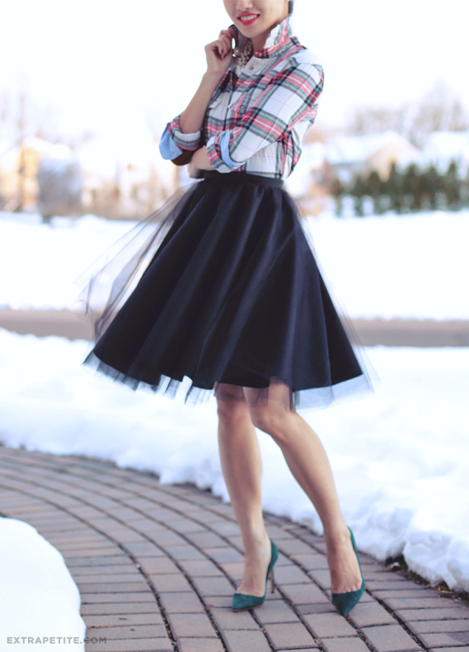 Image result for tulle skirt flannel shirt