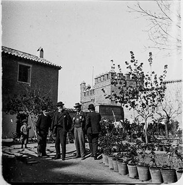 Patio de laMezquita del Cristo de la Luz en 1900. Fotografía de Augusto T. Arcimis © Fototeca del IPCE, MECD. Signatura ARC-0713_P