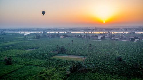 sunrise ballon balloon egypt luxor ägypten ballonfahrt theben