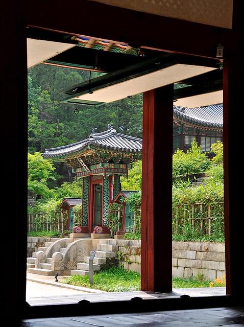 Changdeokgung Palace doorway frame