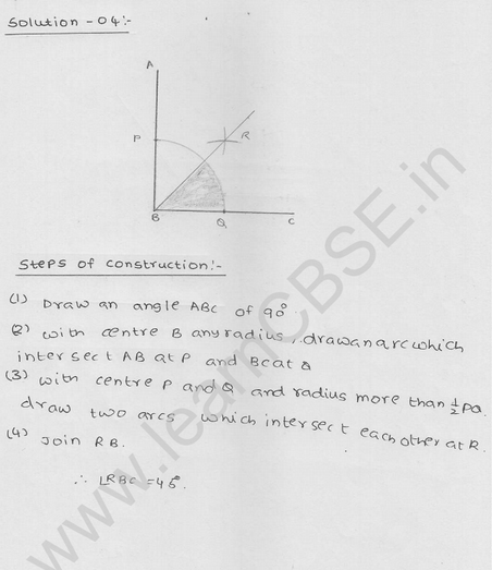 RD Sharma Class 9 solutions Chapter 17 Constructions Ex 17.2 Q 4