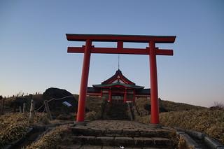 130 Tempeltje op mt Komagatake