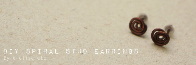 DIY Spiral Stud Earrings