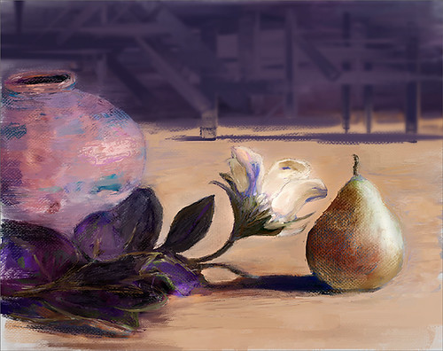Image of a still life painted in Corel Painter