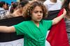 Gaza on his mind. Brussels anti-war demo, July 2014.